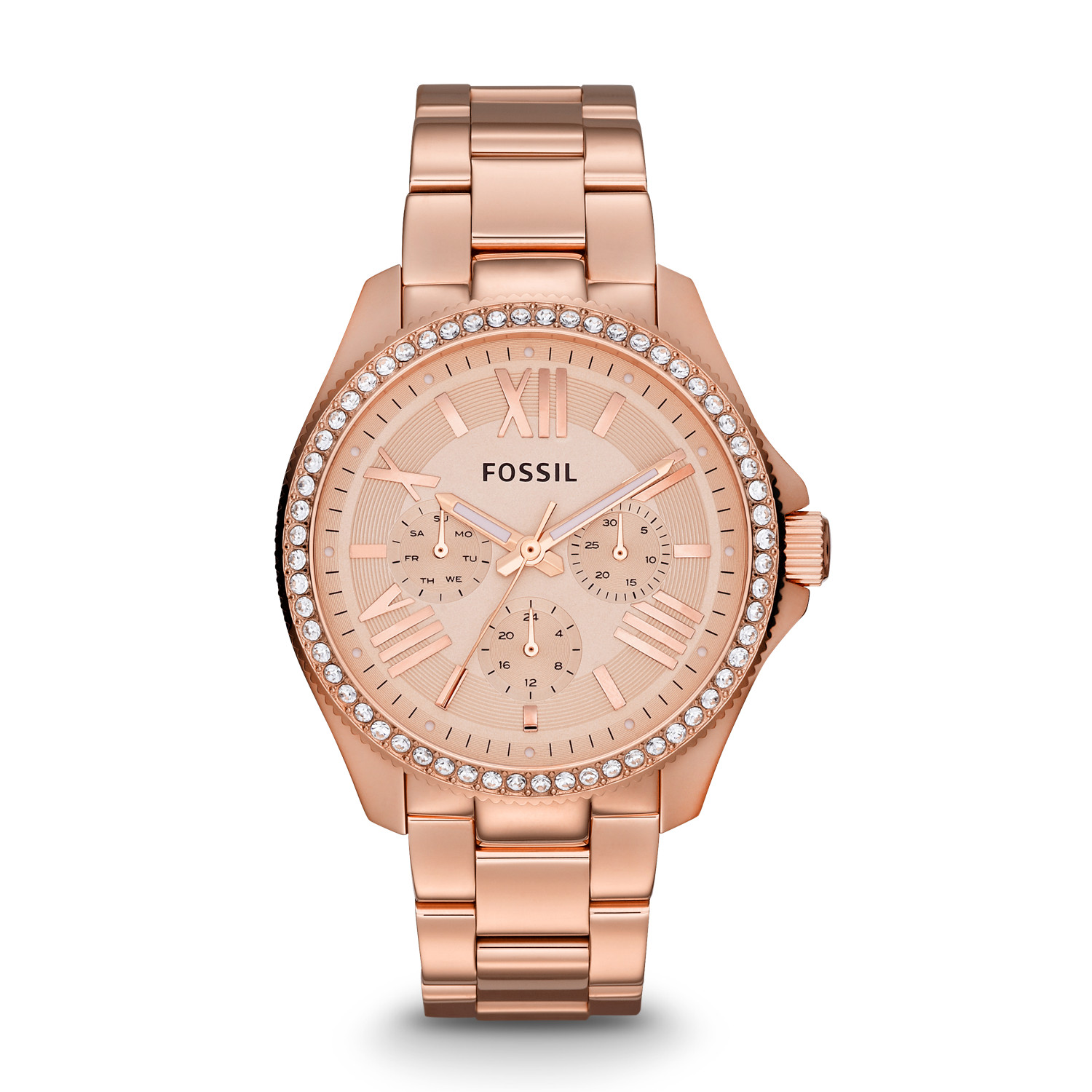 rose shop eclipse gold metal steel rosegold watch ziiiro watches metallic front