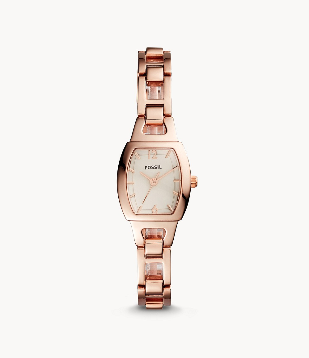 Isobel Three-Hand Rose Gold-Tone Stainless Steel Watch