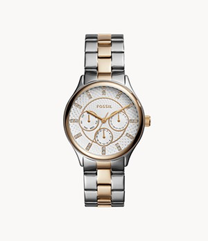 Modern Sophisticate Multifunction Two-Tone Stainless Steel Watch