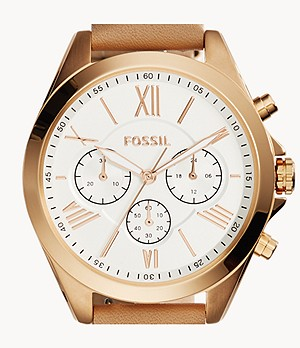 Modern Courier Chronograph Tan Leather Watch