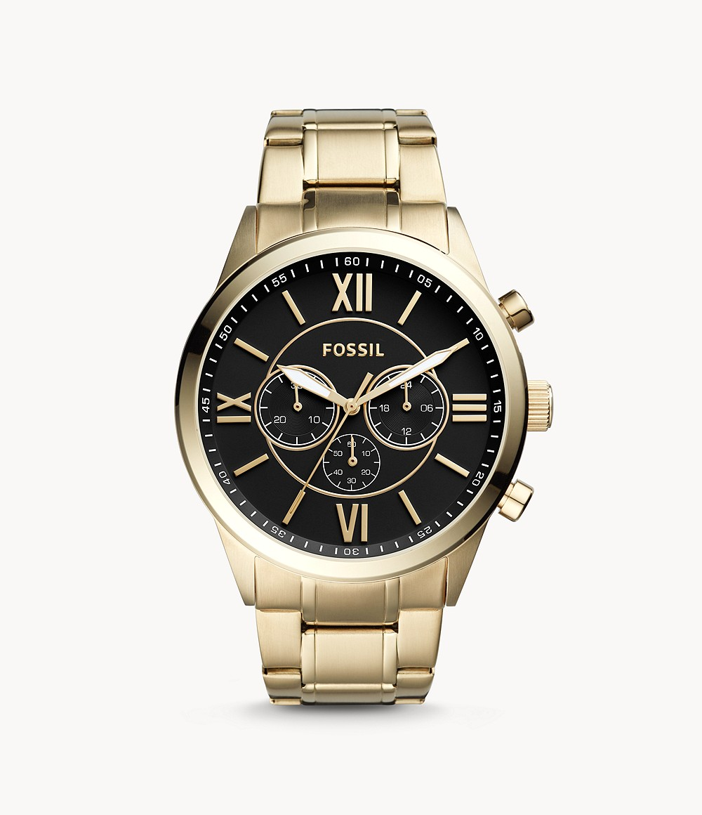 Flynn Chronograph Gold-Tone Stainless Steel Watch