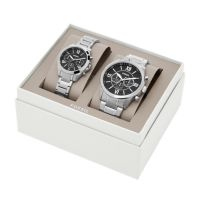 Deals on Fossil His and Her Chronograph Stainless Steel Watch Gift Set