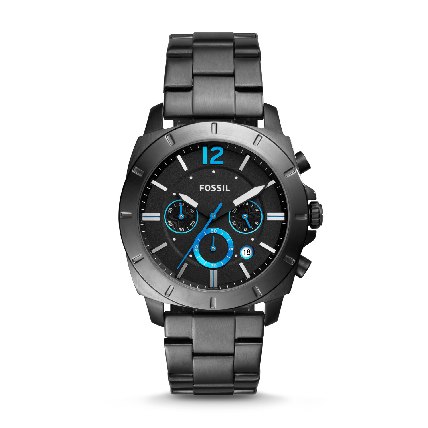 b955e5a3d6b Privateer Sport Chronograph Smoke Stainless Steel Watch - Fossil