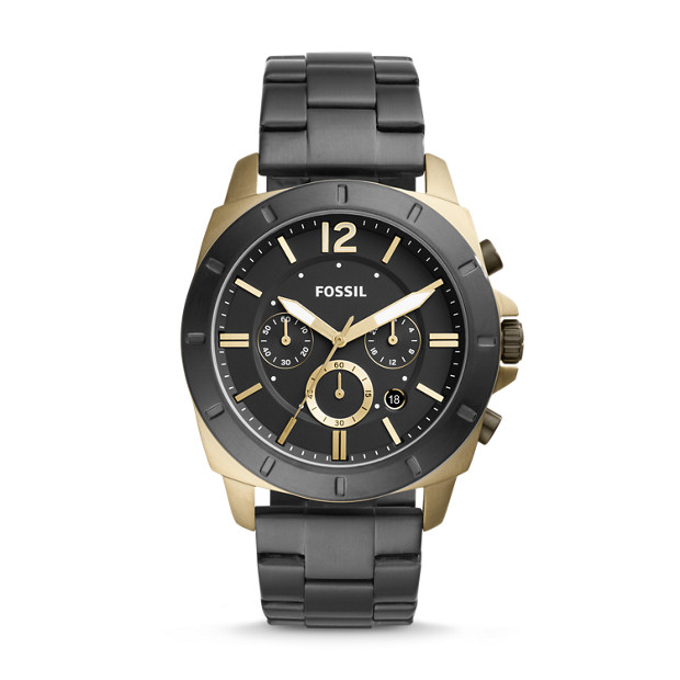 d674a0bb64826 Privateer Sport Chronograph Black Stainless Steel Watch - Fossil