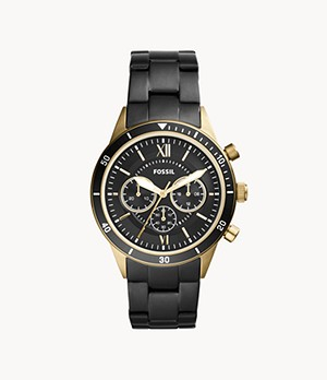 Flynn Sport Chronograph Black Stainless Steel Watch