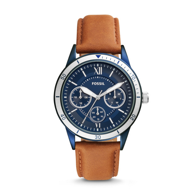 Flynn Sport Multifuntion Brown Leather Watch by Fossil