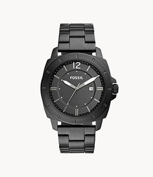 Privateer Sport Three-Hand Date Black Stainless Steel Watch