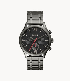Fenmore Midsize Multifunction Smoke Stainless Steel Watch