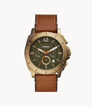 Privateer Sport Chronograph Luggage Leather Watch