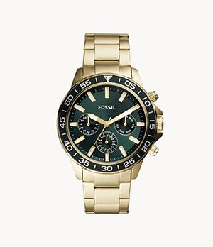 Bannon Multifunction Gold-Tone Stainless Steel Watch
