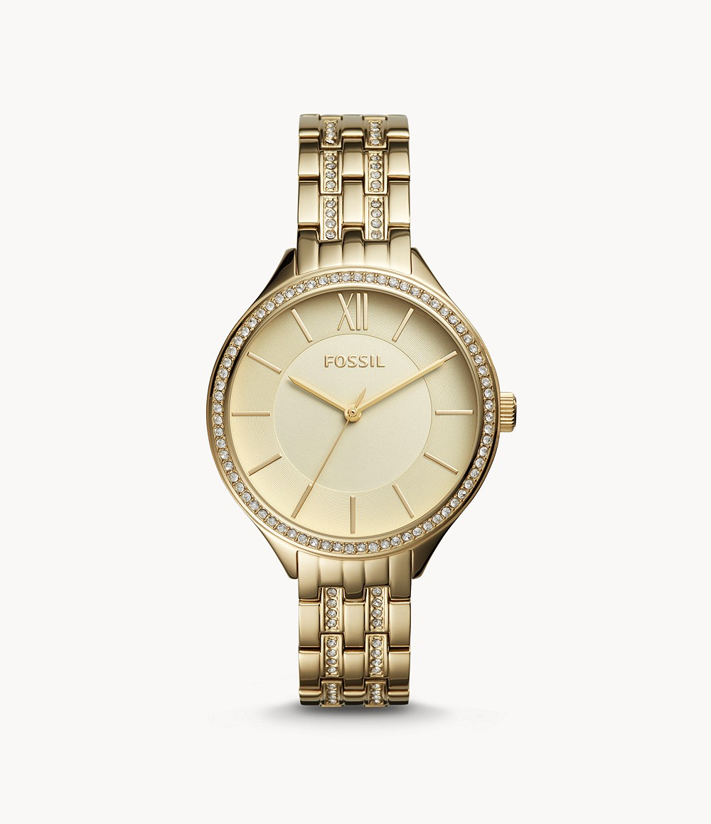 Suitor Three-hand Gold-Tone Stainless Steel Watch