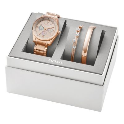 Justine Chronograph Rose GoldTone Stainless Steel Watch and Jewelry
