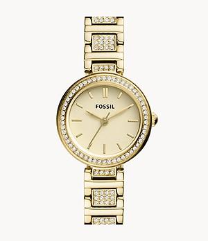 Karli Mini Three-Hand Gold-Tone Stainless Steel Watch