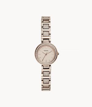Karli Mini Three-Hand Pastel Pink Stainless Steel Watch