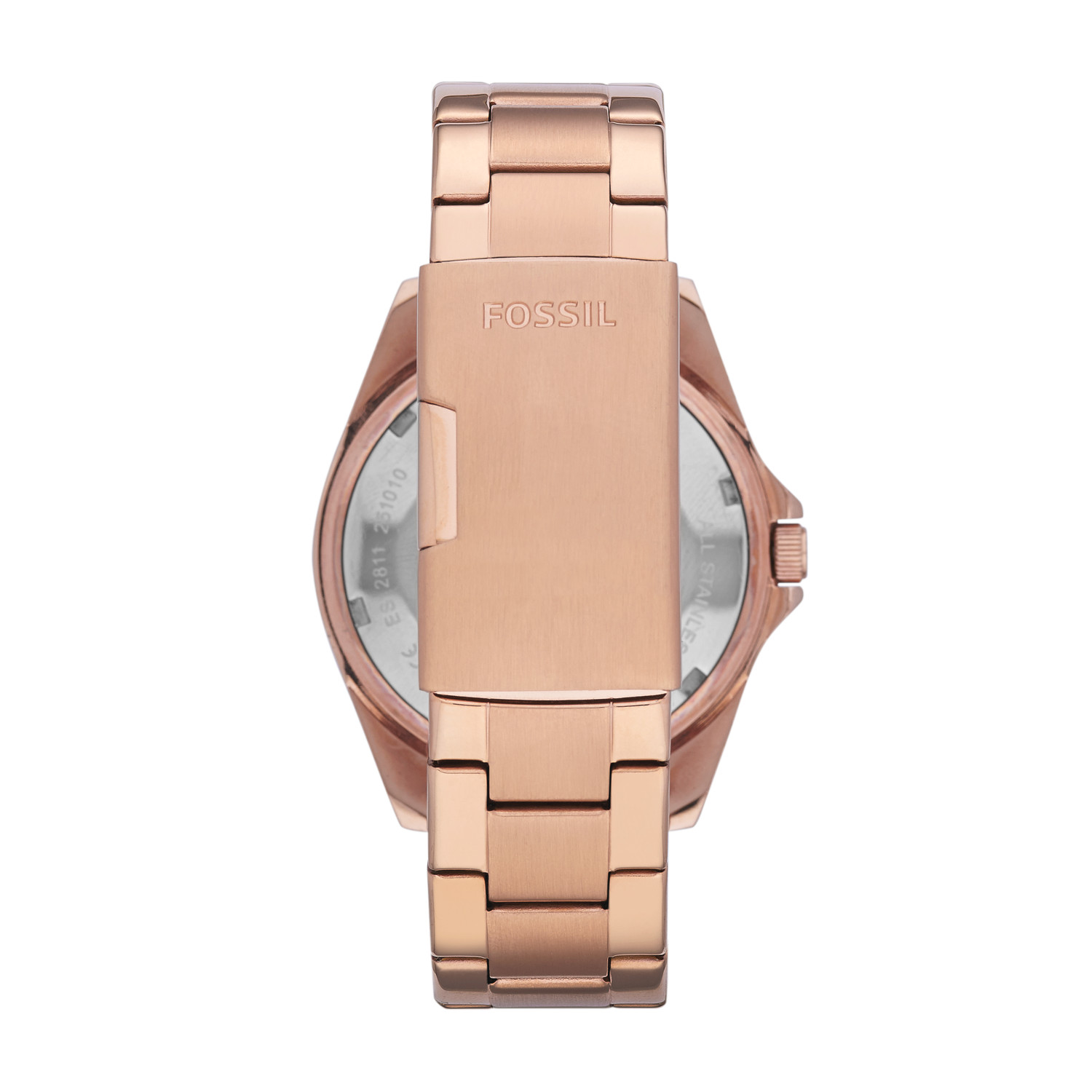 4b4e4d876ec5 Riley Multifunction Rose-Tone Stainless Steel Watch - Fossil