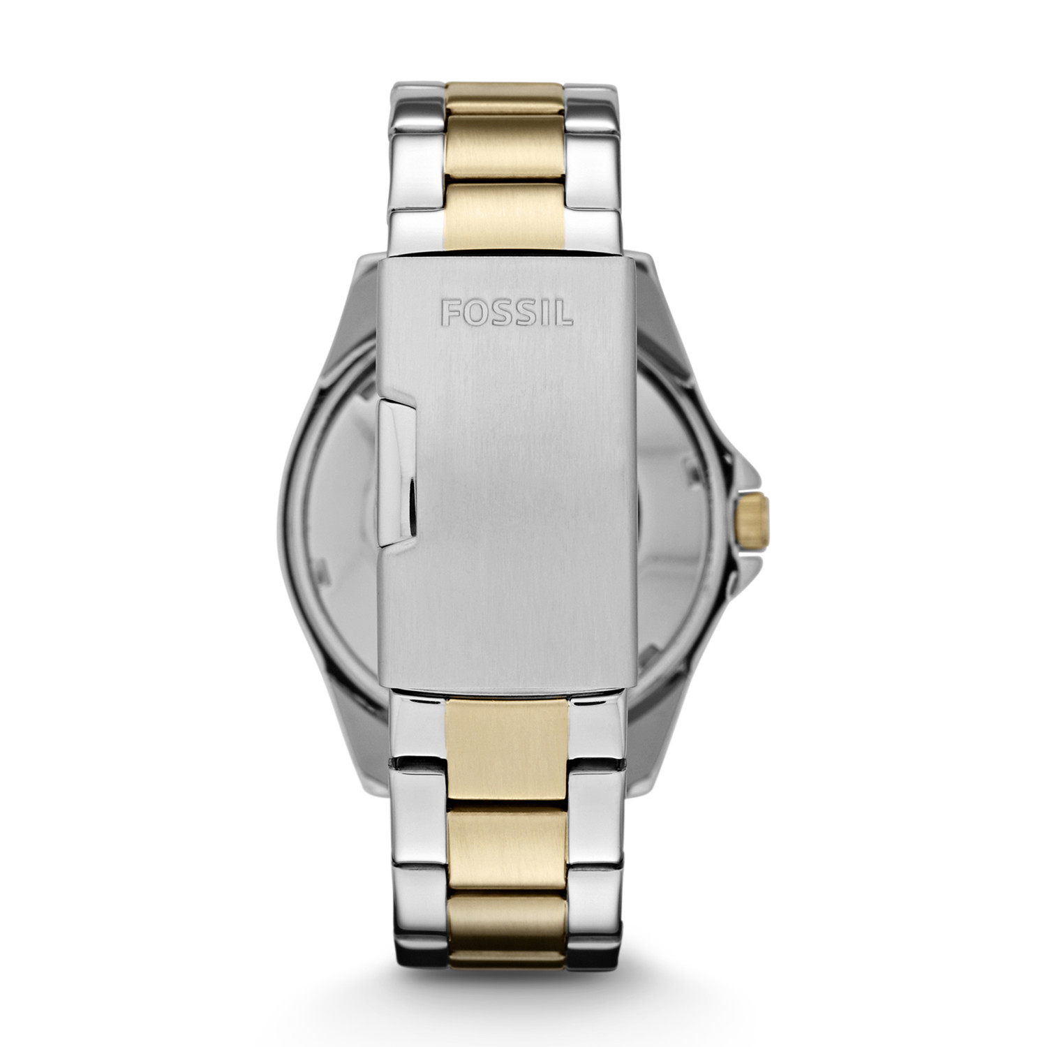 803d90e2713 Riley Multifunction Two-Tone Stainless Steel Watch - Fossil