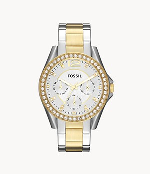 Riley Multifunction Two-Tone Stainless Steel Watch