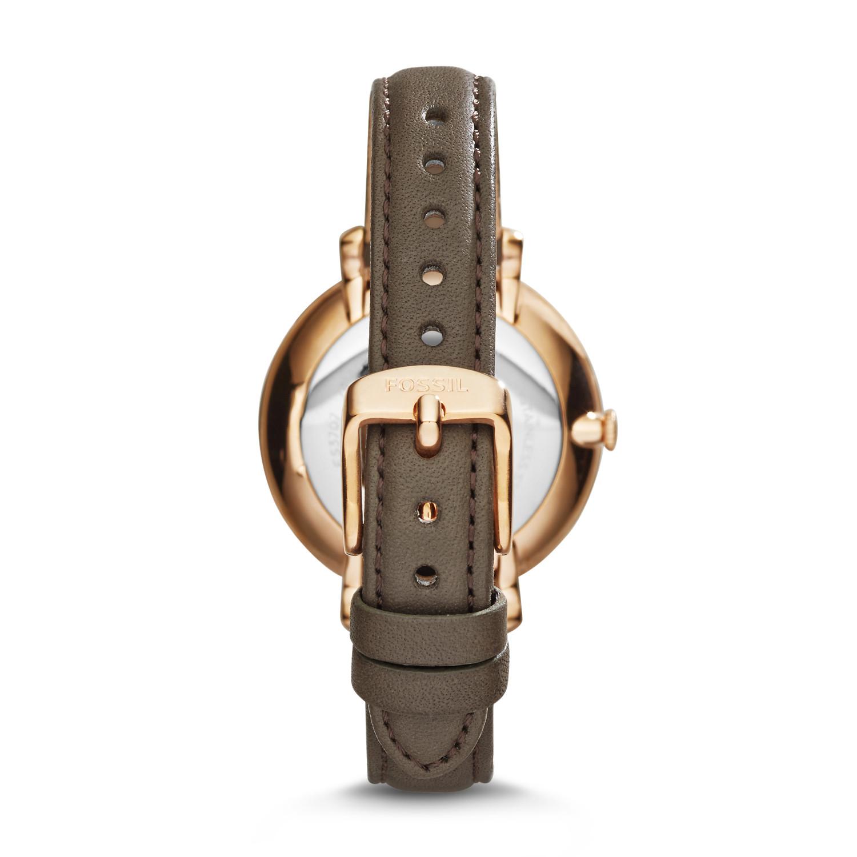 fda3c59cc Jacqueline Gray Leather Watch - Fossil