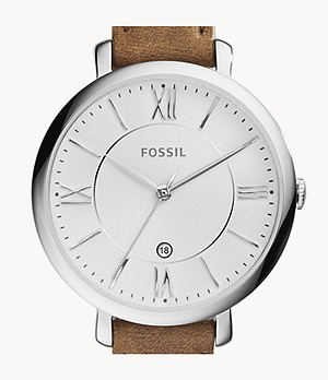Jacqueline Brown Leather Watch