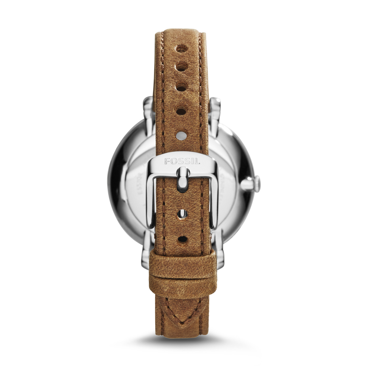 07da6fe44874a Jacqueline Brown Leather Watch - Fossil