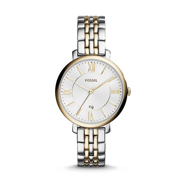 a36378af6f1e Jacqueline Two-Tone Stainless Steel Watch - Fossil