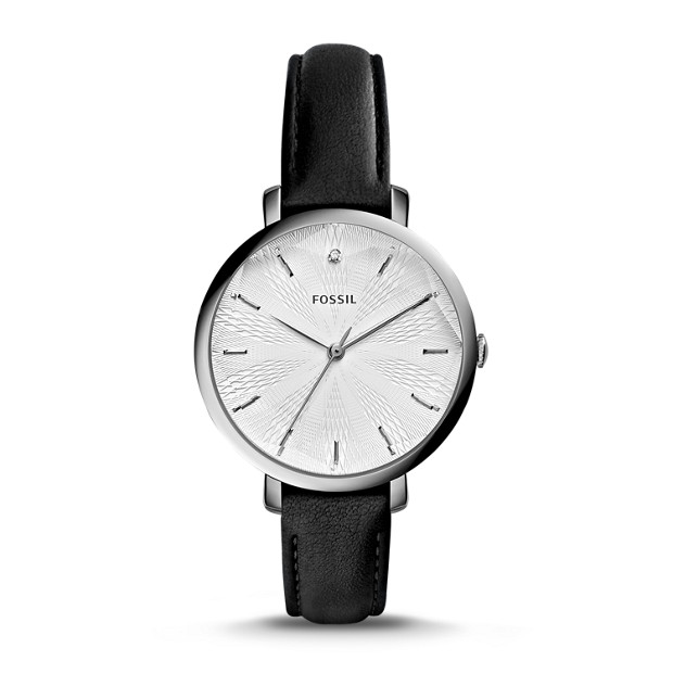 99 Store Near Me >> Incandesa Black Leather Watch - Fossil