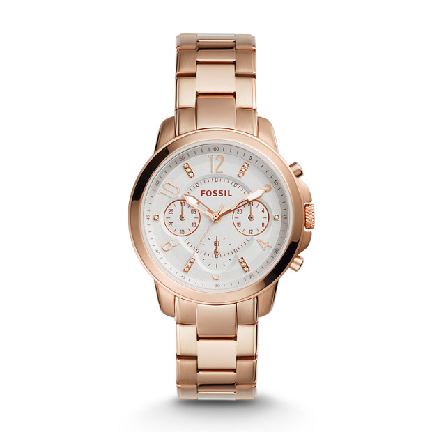 gwynn chronograph rose gold tone stainless steel watch. Black Bedroom Furniture Sets. Home Design Ideas