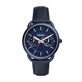 Tailor Multifunction Blue Leather Watch