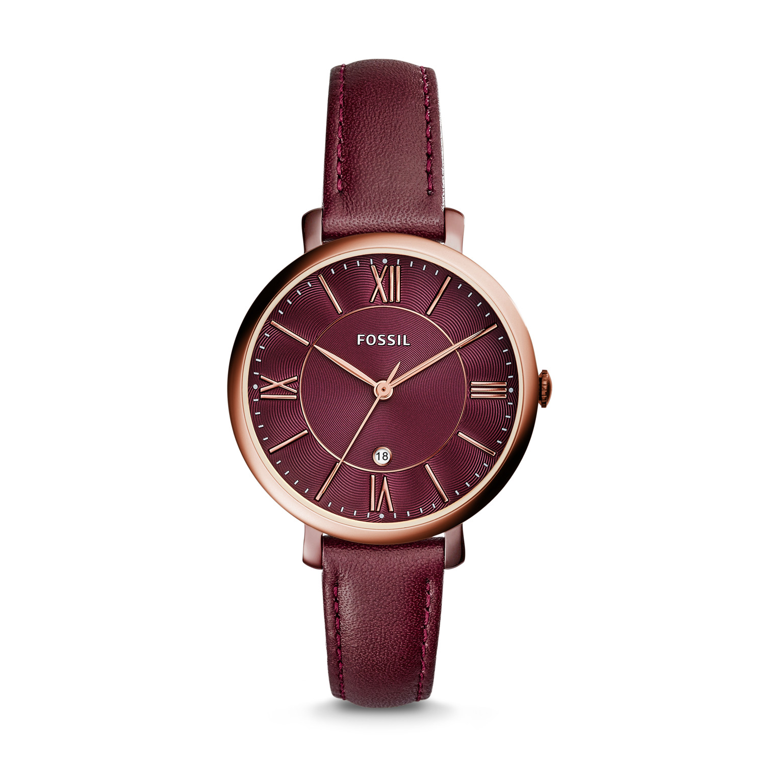 rose watch gold pvd ladies watches image francis maroon strap burgundy from