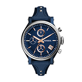 Original Boyfriend Sport Chronograph Blue Leather Watch