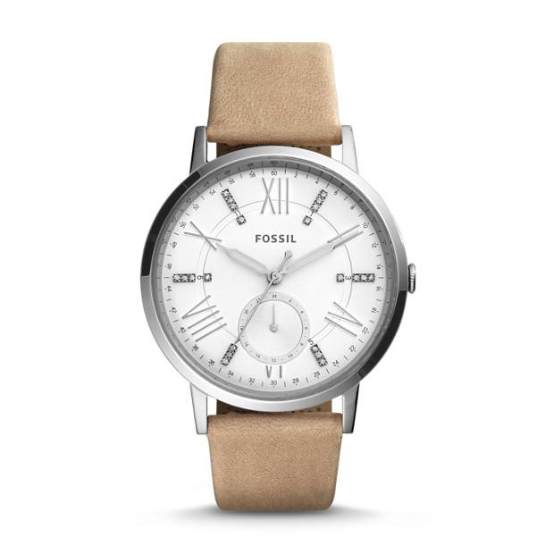 gazer multifunction sand leather watch fossil. Black Bedroom Furniture Sets. Home Design Ideas