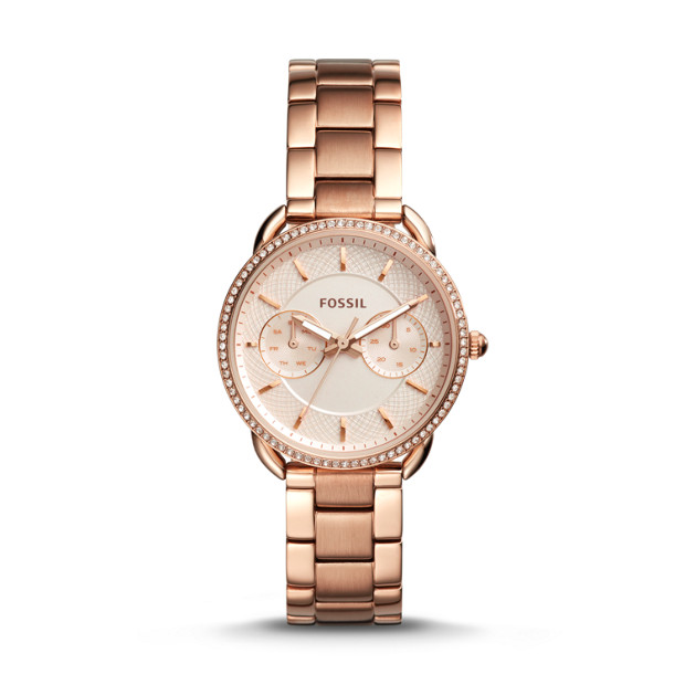 Tailor Multifunction Rose Gold Tone Stainless Steel Watch