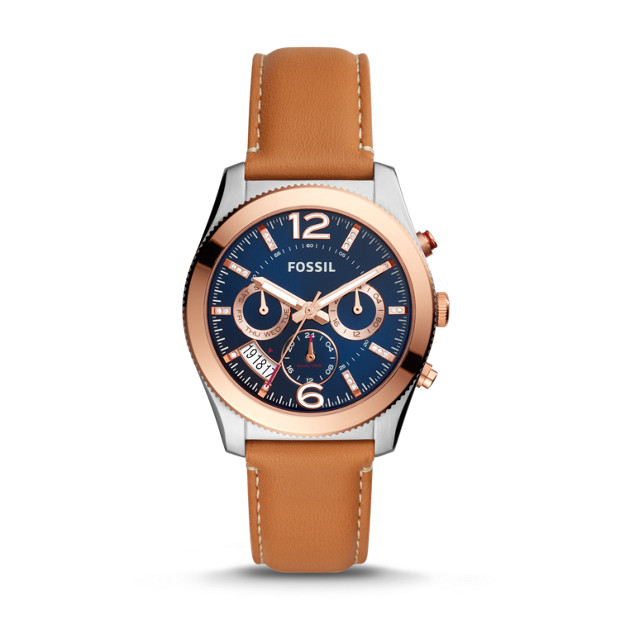 Perfect Boyfriend Multifunction Luggage Leather Watch by Fossil