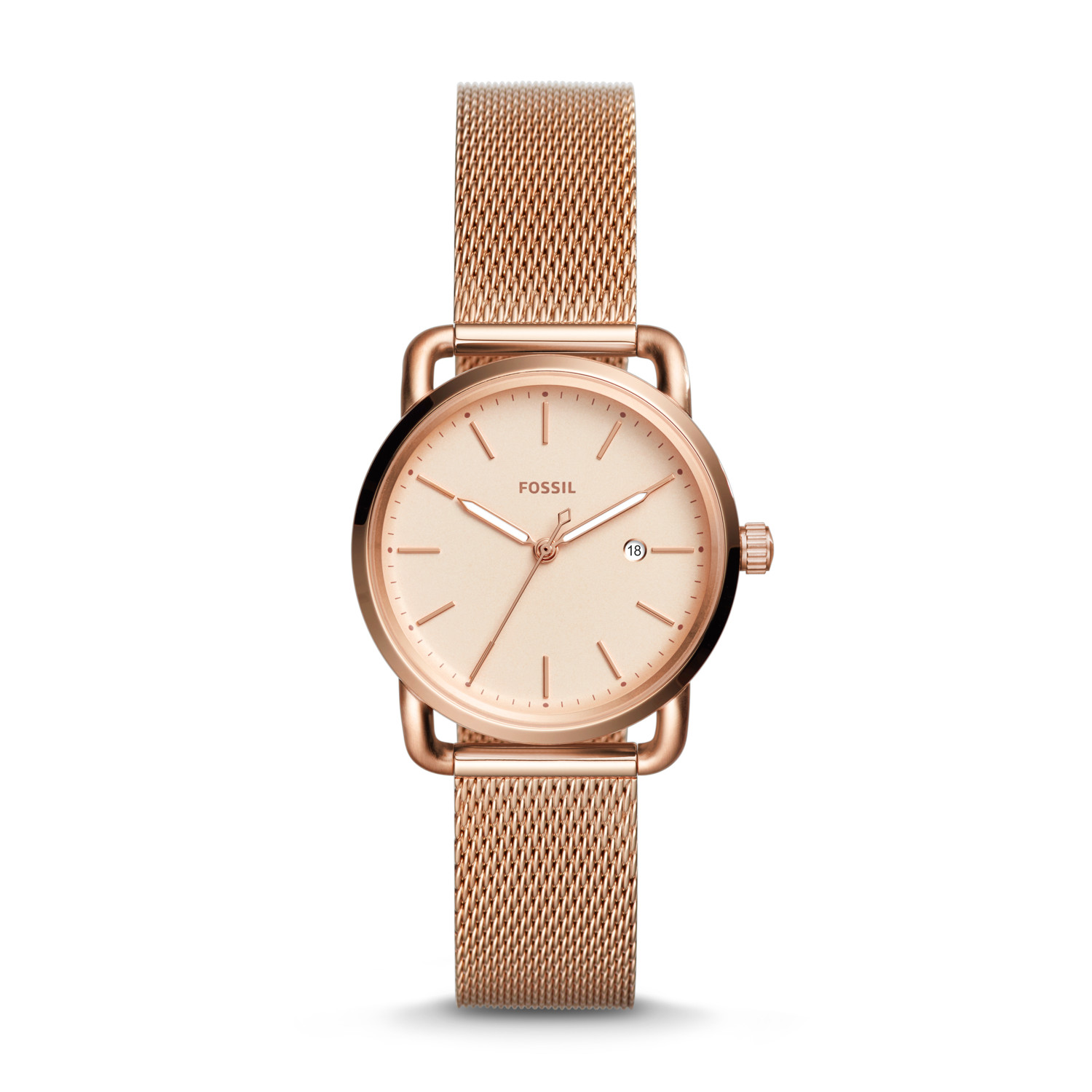 16694f92a43 The Commuter Three-Hand Date Rose Gold-Tone Stainless Steel Watch ...