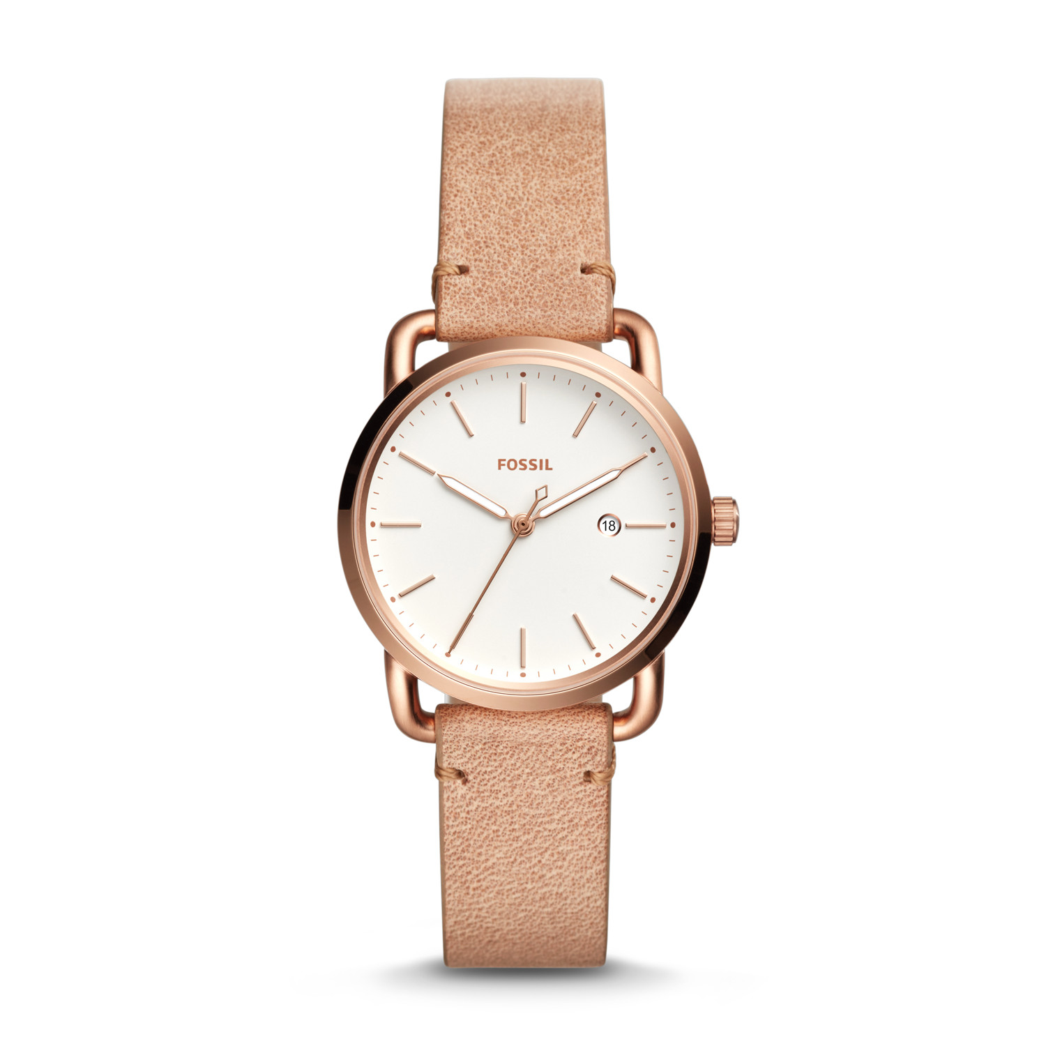 watch womens women accessories fossil lyst s strap watches annette leather sand