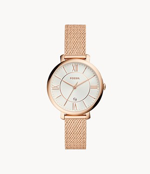 Jacqueline Three-Hand Rose Gold-Tone Stainless Steel Watch