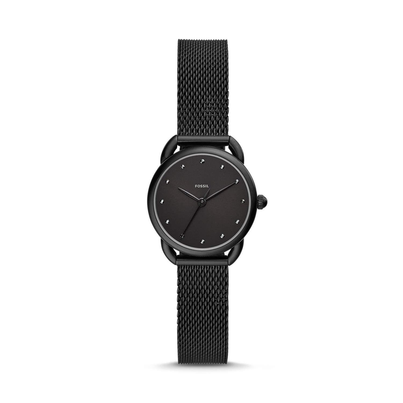 Tailor Three Hand Black Stainless Steel Watch
