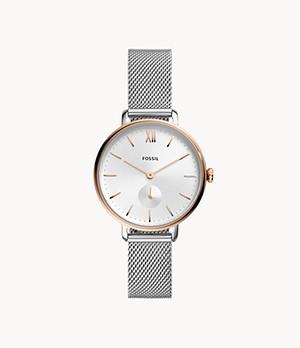 Kalya Three-Hand Two-Tone Stainless Steel Watch
