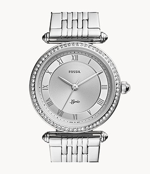 Lyric Three-Hand Stainless Steel Watch