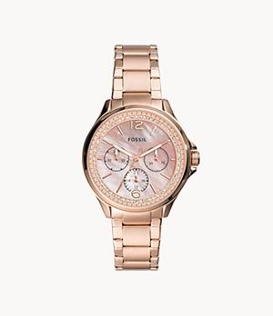 Sadie Multifunction Rose Gold-Tone Stainless Steel Watch