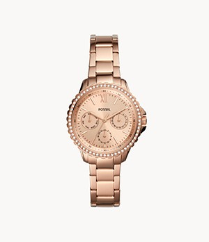 Izzy Multifunction Rose Gold-Tone Stainless Steel Watch