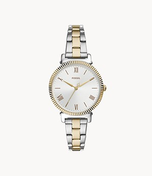 Daisy Three-Hand Two-Tone Stainless Steel Watch
