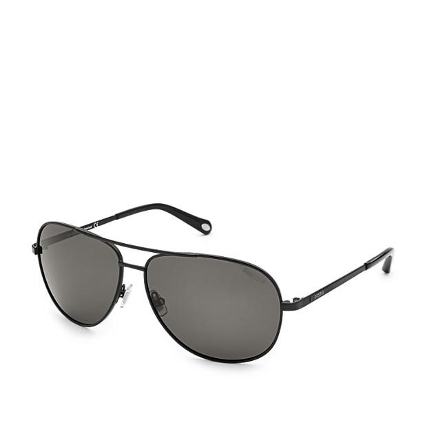 fossil sunglasses  Alex Polarized Aviator Sunglasses - Fossil