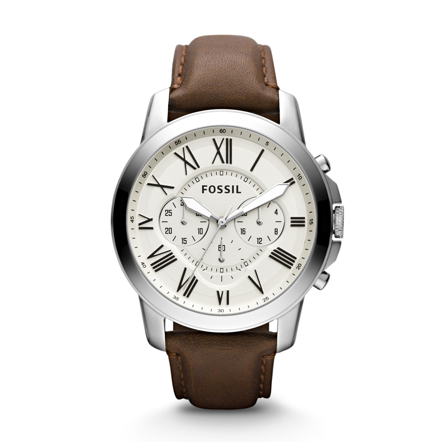 men movement product dial wrist s strap white leather mens watch quartz watches brown
