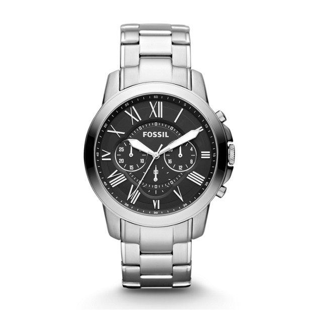 grant chronograph stainless steel watch fossil rh fossil com Fossil Silicone Watch fossil watch fs4487 user manual
