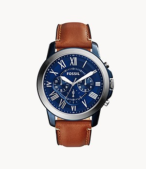 Grant Chronograph Light Brown Leather Watch