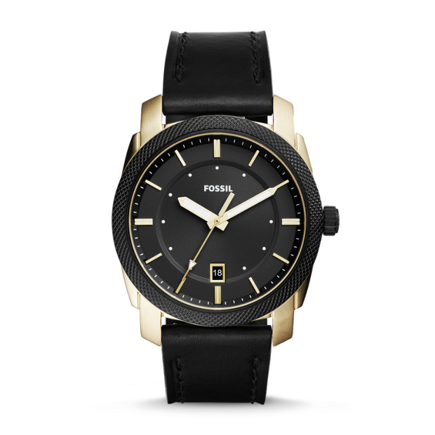 Fossil Machine 3 Hand Date Leather Watch | SPORT