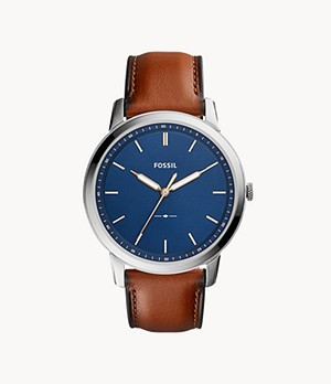 Herrenuhr The Minimalist Slim Leder Braun