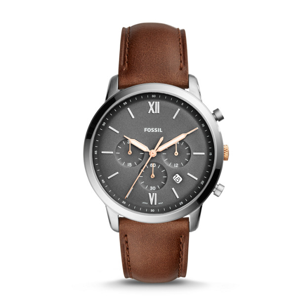 Neutra Chronograph Light Brown Leather Watch by Fossil