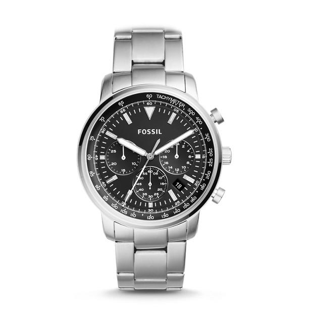 Fossil - Montre Goodwin chronographe en acier inoxydable - 1